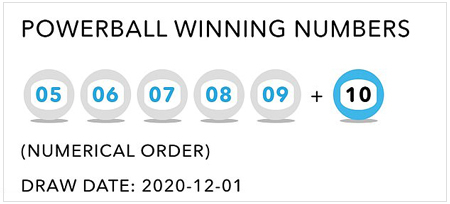 powerball ITHUBA winning numbers